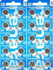 20 pc 357 Renata Watch Batteries SR44W FREE SHIP 0% MERCURY