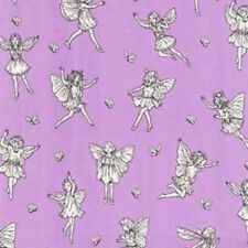 Michael Miller Magical Flower Fairy 4223 Purple Petite Fairy Toile  Cotton BTY