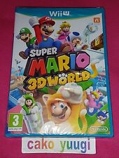 SUPER MARIO 3 D WORLD NINTENDO WII U NEUF SOUS BLISTER 1ERE EDITION 100% FR