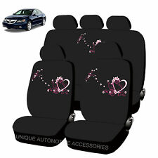NEW SPRING LOVE DESIGN FRONT REAR LOW BACK SEAT COVERS 11PC SET FOR CARS 2884