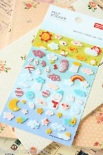 Weather Felt Stickers kawaii cute cartoon diary planner scrapbooking stickers