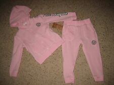 True Religion Toddler Girls Flower Power Sweatshirt Pants Set 2T