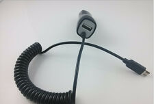 5V/2.1A Power Micro USB 2.0 Auto Car Charger And Spring USB Cable For Cell Phone