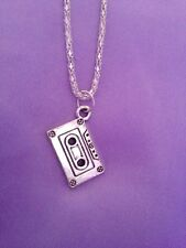 1 vintage style  retro cassette tape necklace / pendant