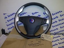 SAAB 9-5 95 Aero Chrome Silver Steering Wheel & SRS 06-2008 12758902 Automatic