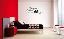 IMAGINE DISCOVER EXPLORE AIRPLANE WALL LETTERING DECAL WORDS NURSERY QUOTE KIDS