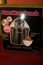 HAMILTON BEACH ELECTRIC ICE CREAM MAKER 1.5QTS.MODEL 68320B NEW IN BOX