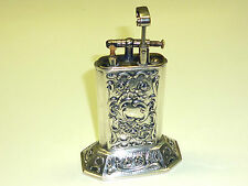 MÜLLER & GRÜNSTEIN TABLE LIFTARM LIGHTER WITH 800 SILVER CORPUS - 1930 - GERMANY
