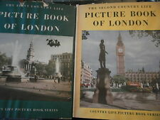 "2 livres 1953 ""  PICTURE BOOK OF LONDON "" 1 & 2 pics photos londres art"