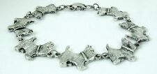 7 inch Cute Westie Dog Bracelet antique silver plated 18 cm