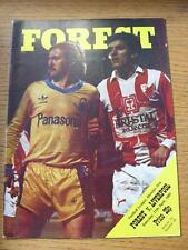 11/04/1981 Nottingham Forest v Liverpool  (Team Changes)
