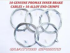 10 X UNIVERSAL BIKE INNER  BRAKE CABLES + CRIMP ENDS, MTB, SHIMANO,  ETC.