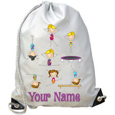 GIRL'S GYMNASTIC'S PERSONALISED GYM / PE / DANCE / SWIMMING BAG  **NAMED GIFT**