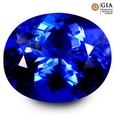 5.11 ct GIA CERTIFIED AAAA+ STUNNING OVAL CUT (12 x 10 mm) D'BLOCK TANZANITE