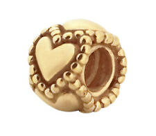 Authentic PANDORA Silver Chain of Hearts Spacer Charm 24K Gold Plated 790448