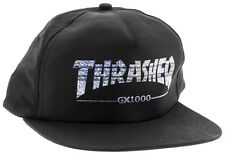 Thrasher Magazine X GX1000 Collab UNSTRUCTURED Snapback Skateboard Hat BLACK