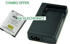 EN-EL19 & MH-66 Battery Charger + For Nikon Coolpix S2500 S3100