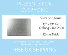 "1 x 12"" x 10"" Inch Oblong Rectangular Wedding Birthday Cake Drum / Board 12mm"