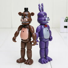 2PCS  Five Nights at Freddy's FNAF Action Figures Set Bonnie Chica Foxy Bear 6""