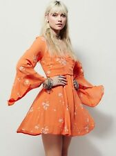 105335 New $148 Free People Jasmine Floral Embroidered Tunic Dress M 8 US