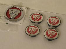 NUOVO Originale Jaguar Red WHEEL CENTRE CAPS & griglia Badge XF XJ XF F-Type X-Type