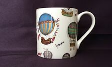 Bone China Hot Air Balloon Chintz Pattern Mug Hand Decorated in Wales