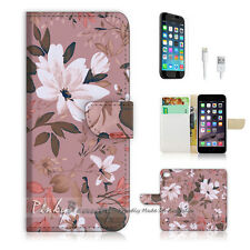"iPhone 6 (4.7"") Print Flip Wallet Case Cover! Vintage Flower P0371"