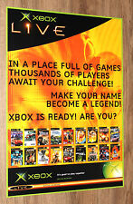 Old Xbox Live Various Games very rare Promo Poster 59x42cm