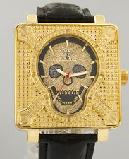 Skull Real Diamond Watch Punk rock, Goth, Gothic, Biker, Jewelry Men/Women