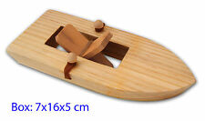 *NEW* Wooden Boat - Rubber Band Paddle Boat - Educational Fun bath Water