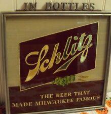 1950'S SCHLITZ BEER SIGN WITH METAL LETTERS: IN BOTTLES