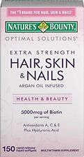 Nature's Bounty Optimal Solutions Hair Skin & Nails Extra Strength 150 Each
