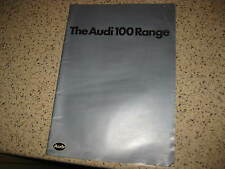 AUDI 100 - C2 - 1979 - MODEL RANGE CATALOGUE / BROCHURE