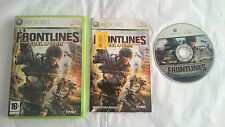 JUEGO COMPLETO FRONTLINES FUEL OF WAR MICROSOFT XBOX 360 PAL EUROPA UK