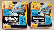 New 16 Count Gillette Fusion PROSHIELD CHILL Razor Blades Cartridges 97215112