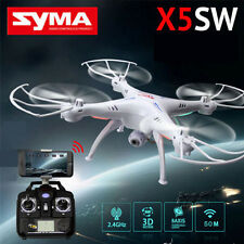 Syma X5SW FPV 2.4Ghz 4CH 6-Axis RC Quadcopter Drone 2MP WIFI Camera HD RTF White