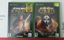 Star Wars Knights of the Old Republic I & II 1 & 2 KOTOR Xbox Complete