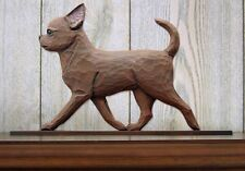 Chihuahua Figurine Sign Plaque Display Wall Decoration Chocolate