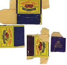 Vintage Matchbox Moko Lesney #16, #58, #30, # 29 Empty Box Only Parts