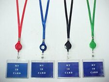 "LOT OF 12 PCS ID HOLDER LANYARDS RETRACTABLE BADGE HOLDER 17"" NECKALCE 67731"