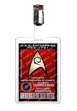 Star trek engineering division starfleet badge d'identification cosplay prop costume comique avec