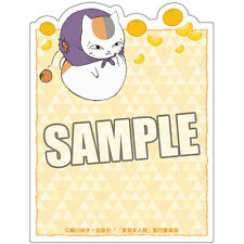 Natsume's Book of Friends Yuujinchou Diecut Sticky Notes Memo Pad Nyanko Sensei