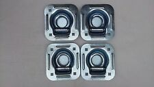 4 Recessed Tie Down D Rings Ring Flatbed Truck Cargo Trailer Strap Flush mount