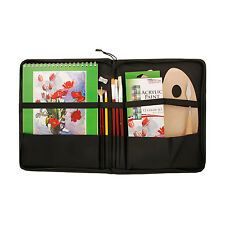 US Art Supply 23 Piece Acrylic Painting Set with Zippered Portfolio Case