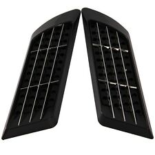 2x Universal Decorative Air Flow Intake Scoop Bonnet Vent Cover Roof Hood Black