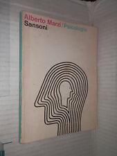 PSICOLOGIA Alberto Marzi Sansoni 1966 libro saggistica manuale corso di