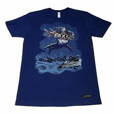 (S) ATTACK OF THE SHOW G4 Network Video Game Blue Graphic T-Shirt Shark News