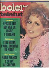 BOLERO TELETUTTO ANNO XXVI N. 1336 10 DICEMBRE 1972 ORNELLA VANONI