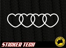 AUDI LOVE HEART STICKER DECAL TO SUIT A4 A6 RS6 RS4 QUATRO TURBO TT