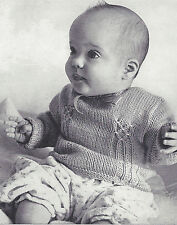 Knitting PATTERN to make Baby Convertible Cardigan Sweater Smocked Front or Back